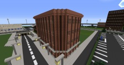 Simple brick corner apartment and pet store Minecraft Map & Project