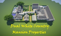 DUAL WHITE COUNTRY MANSION PROPERTIES Minecraft Map & Project
