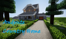 ANDESITE COUNTRY HOME +Yard Minecraft Map & Project