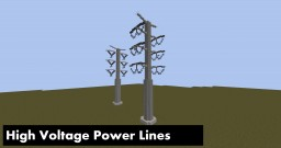 High Voltage Power lines - CCS / HC Minecraft Map & Project