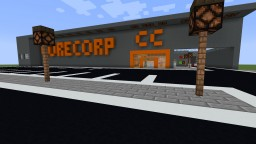 CoreCorp Factory - Production Line, Store, Parking, Shipping and more! Minecraft Map & Project