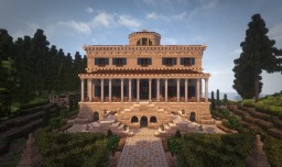 Palladian Villa on a Lake. Conquest Reforged Minecraft