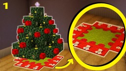 Minecraft - How To Make A Christmas Tree Mat/Carpet   Christmas Special Part 1/6 Minecraft Map & Project