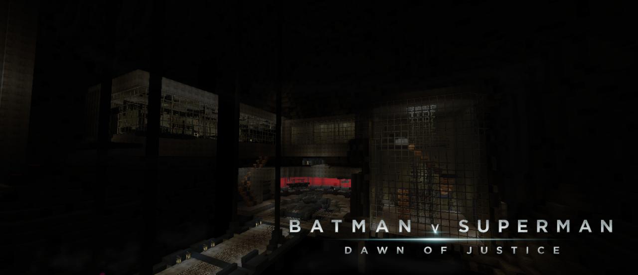 Batman v superman Batcave Minecraft Project