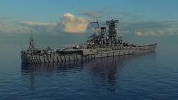 IJN Yamato batleship 1.5:1 Minecraft Map & Project