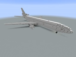 2:1 scale DC-10-30 and DC-10-30F Minecraft Map & Project