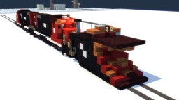Canadian National Wedge Snow Plow Train Minecraft