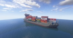 Maike D (1:1 Scale Container Ship) Minecraft Map & Project