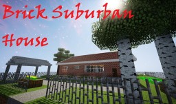 BRICK SUBURBAN HOUSE +Yard Minecraft Map & Project