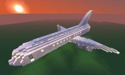 Avión comercial grande: boeing 747 Minecraft