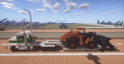 D & J Frightliner with Lowboy and DL 550 Wheel Loader Minecraft Map & Project