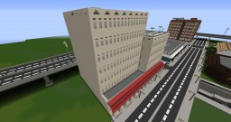 sandstone apartment building with shops Minecraft Map & Project