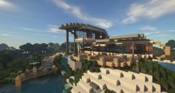 Organic beach house Minecraft Map & Project