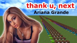 Ariana Grande - thank u, next/Minecraft noteblock cover & tutorial Minecraft Map & Project