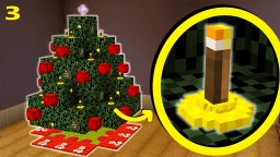 How To Make Christmas Tree Candles / Lights | Christmas Special Part 3/6 Minecraft Map & Project
