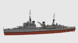 British Light Cruiser - Hms Fiji Minecraft Map & Project