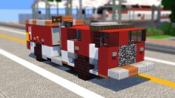Los Angeles LAFD Fire Engine Minecraft Map & Project