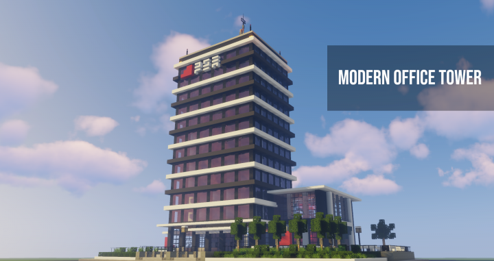 . Modern office tower Minecraft Project