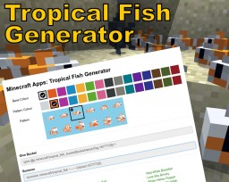 Tropical Fish Generator Minecraft Mod
