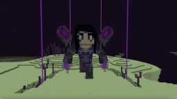 Kai'Sa Statue from League of Legends Minecraft Map & Project