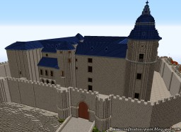 Replica Minecraft del Castillo de Simancas, Valladolid, Spain. Minecraft Map & Project