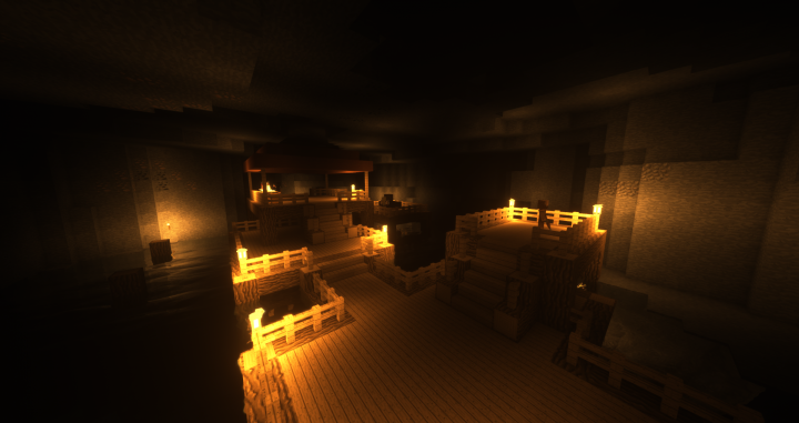 A bandit stronghold in a cavern