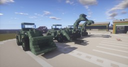 Military DL250 wheel-loader Minecraft Map & Project