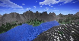 Fjord creative vanilla landscape 3k x 3k Minecraft Map & Project
