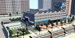 Japanese car dealer (Nets Tama head office) Minecraft Map & Project