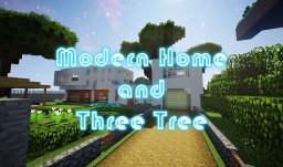MODERN HOME and THREE TREE +Yard Minecraft