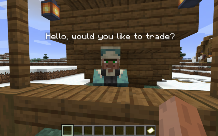 The helpful town merchant that'll have the equipment necessary to succeed!