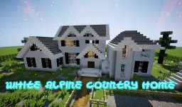 WHITE ALPINE COUNTRY HOME +Yard Minecraft Map & Project