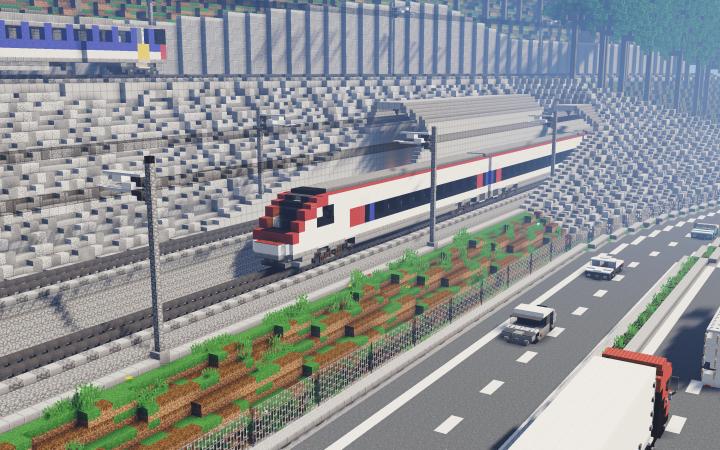 Gotthard Base Tunnel Entrance Minecraft Project