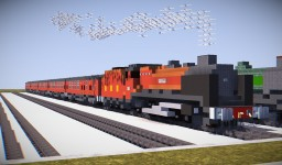 LMS 8P Coronation Class 6233 + Mk1s Minecraft Map & Project