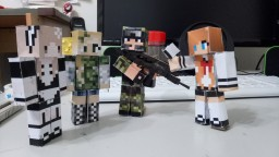 PMC Skin 3D download photocopying paper model Minecraft Blog