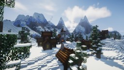 Snowy Mountain Village Minecraft Map & Project