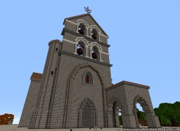 Replica Minecraft of the Collegiate Church of San Salvador de Cantamuda, Palencia, Spain. Minecraft Map & Project