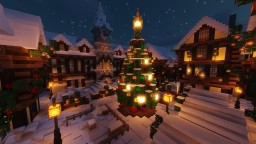 Small Christmas Market Square Minecraft Map & Project