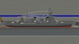 USS Pensacola CA-24 Minecraft Map & Project