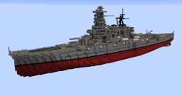 IJN Haruna 1:1 Scale Minecraft Map & Project