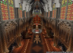 Advance of the interior of the replica of the Cathedral of Burgos Minecraft Map & Project