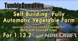 Fully Auto Vegetable Farm Built with Function Files 1.13.2 Minecraft Map & Project
