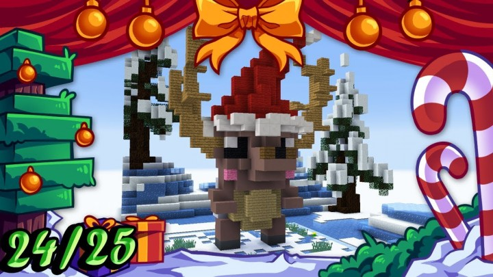 ❄️ Christmas Builds 24/25 🎁 CUTE REINDEER Minecraft Project