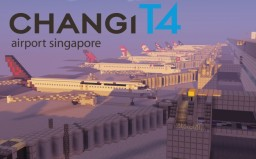 Changi Airport Singapore - Terminal 4 (Phase 2/3) Minecraft Map & Project