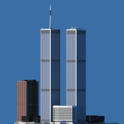 World Trade Center - scale 1:1 Minecraft
