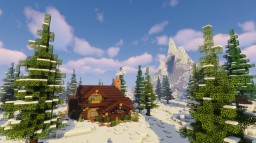 SNOWY FOREST CABIN !! (Minecraft Timelapse) + (WORLD DOWNLOAD) Minecraft Map & Project
