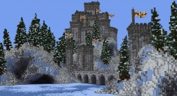 small part of a old castle - built for this winter ! Minecraft