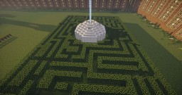 Small Maze with Center Beacon House Minecraft Map & Project