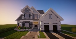 "Suburban house ""Bleuet"" Minecraft Map & Project"