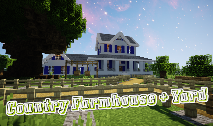 COUNTRY FARMHOUSE +Yard Minecraft Project